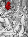 Heinrich Aldegrever: Der Totentanz - Allegorie von Erbsünde und Tod, 1541 (Ausschnitt) / Soest, Burghofmuseum; Foto: Münster, Westfälisches Landesmedienzentrum/O. Mahlstedt