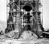Bauarbeiten am Kaiser-Wilhelm-Denkmal an der Porta Westfalica, 1895 (Ausschnitt) / Minden, Kommunalarchiv