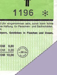 Eintrittskarte zum offiziellen Eröffnungsspiel des Dortmunder Westfalenstadions (Deutschland-Ungarn) am 17.04.1974 (Ausschnitt) / Foto: Privat