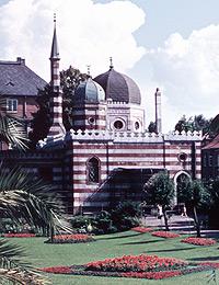 Elefantenhaus im alten Zoologischen Garten, um 1959 (Ausschnitt) / Münster, Westfälisches Landesmedienzentrum, 10_2314