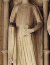 Statue eines Ritters im Paradies (Vorhalle) des St. Paulus-Doms zu Münster, z. T. als Darstellung des Gottfried von Cappenberg interpretiert, um 1230/1240 / Foto: Jutta Brüdern, Braunschweig