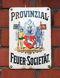 Versicherungsschild der 'Provinzial-Feuer-Societät' an einem Haus in Ahlen / Foto: Bad Sassendorf, M. Weidner/IMG_4076