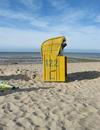 Strandkorb am Strand von Cuxhaven / Foto: Marcus Weidner, 2006
