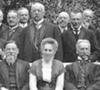 Gruppenbild mit Abgeordneten des Provinzialverbandes im Garten des Landeshauses in Münster, um 1905 (Ausschnitt) / Münster, Westfälisches Landesmedienzentrum, 10_3205