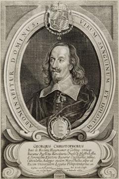 Porträt des Georg Christoph von Haslang zu Hohenkammer und Giebing (München 25.09.1602 - Hohenkammer 15.04.1684), Prinzipalgesandter des bayerischen Kurfürsten in Münster, ab 1645