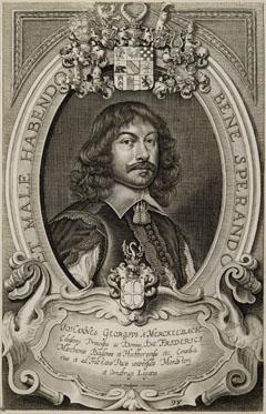 Porträt des Johann Georg von Merckelbach († Durchlach zwischen 15. und 31.12.1680), Gesandter des Markgrafen von Baden-Durlach in Münster und Osnabrück
