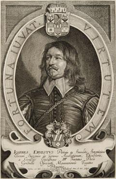Porträt des Johann Ernst von Pistoris auf Seußlitz (Burg Hirschstein 20.03.1605 - Seußlitz 13.05.1680), Kursächsischer Prinzipalgesandter in Münster und Osnabrück, 1646-1647