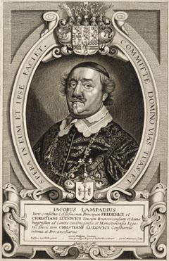 Porträt des Jakob Lampadius (Heinsen 21.11.1593 - Osnabrück 10.03.1649), Gesandter des Herzogs von Braunschweig-Lüneburg(-Calenberg) in Osnabrück, 1644-1649