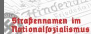 Logo der Website 'Marcus Weidner: Die Straßenbenennungspraxis in Westfalen und Lippe während des Nationalsozialismus. Datenbank der Straßenbenennungen 1933-1945'