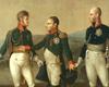 F. Gérhard, Treffen der drei Monarchen Napoleon I., Alexander I. und Friedrich Wilhelm III. bei Tilsit, um 1808 (Ausschnitt) / Minden, Preußen-Museum NRW, WES/19/99