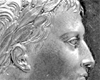 Napleon auf einer Medaille des Kaiserreichs Frankreich, 1807 (Ausschnitt) / Münster, Westfälisches Landesmuseum für Kunst und Kulturgeschichte, 31205 Mz, Foto: Sabine Ahlbrand-Dornseif