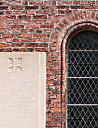 Kriegerdenkmal an der Zionskirche der v. Bodelschwinghschen Stiftungen Bethel (Ausschnitt) / Foto: Hauptarchiv der v. Bodelschwinghschen Stiftungen Bethel, 2009