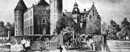 Schloss Gemen, um 1860