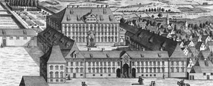 Bischöfliche Residenz in Osnabrück (Ausschnitt), um 1770
