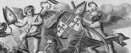 Wappen des Fürstbistums Paderborn (Ausschnitt), um 1750