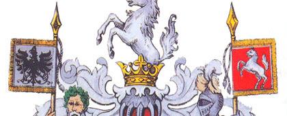Wappen der Provinz Westfalen (Ausschnitt), um 1900
