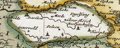 Vest Recklinghausen (Kartenausschnitt), 1710 / 1730