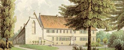 Schloss Bentlage (Rheine) von Westen, 1866/1867