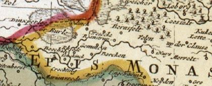 Gebiet um Bocholt, 1710 / 1730 (Kartenausschnitt)