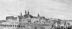 Burg Tecklenburg (Ausschnitt), um 1850