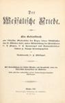 Titelblatt: Philippi, Der Westfälische Friede, Münster 1898'