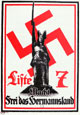 Wahlplakat der NSDAP zur lippischen Landtagswahl am 15.01.1933: 'Liste 7 - Macht frei das Hermannsland', 1933