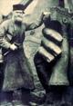 Ernst von Bandel bei der Arbeit am Hermannsdenkmal