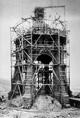 Bauarbeiten am Kaiser-Wilhelm-Denkmal an der Porta Westfalica, Ende 1895