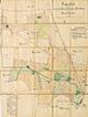 Münster: Lageplan des ehemal[igen] Gutes Schulze-Brüning bei Kinderhaus [mit Einzeichnung der Nutzungsarten], [um 1913]