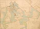 Gütersloh: Höhenplan des Bebauungsgeländes der Heilanstalt Gütersloh, [um 1915]