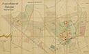 Gütersloh: Provinzial-Heilanstalt Gütersloh [Lageplan, mit Einzeichnung der Nutzungsarten], 1936-05