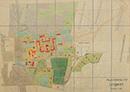 Lengerich: Provinzial-Heilanstalt Lengerich [Lageplan, mit Einzeichnung der Nutzungsarten], [um 1936]