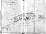 Lageplan der projektierten Paketbaracken des Kriegsgefangenenlagers Meschede, 1915/1916