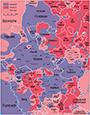 Karte zum Hermannslauf der Deutschen Turnerschaft am 14.-16. August 1925, 1925