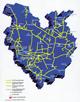 Erdgas-Transportnetz der Westfälischen Ferngas AG (WFG AG) im Jahre 1999,