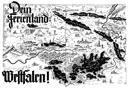 """Werbeanzeige: """"Dein Ferienland Westfalen"""", in: Westfalen im Bild, 9. Jg., Heft 4, 1935, S. 16/17, 1935"""
