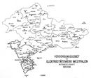 Versorgungsgebiet des Elektricitätswerk Westfalen Aktiengesellschaft Bochum, 1912