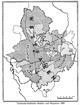 Territorial-städtische Bezirke und Hauptorte [in Westfalen] 1800, 1952