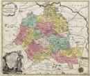 Carte géographique du Comté de Lippe, divisée en ses differens Bailliages, scavoir de Barntrupt, de Blomberg, de Brack, de Detmold, de Falckenberg, d