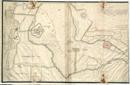 Carte, welche den Lauff der Emse von A bihs B anweiset, zugleich die eigentliche wahre Limiten des Hoch Herrschafftlichen Terrins und der Stadt Ritberg zugehörigen Gemeinheit so genanten Stadt-Teich und die Marckt; gleich solches der neben denen Pfählen von N. 1 bihs N. 19 gezogene Rothe-Strich dahs mehrere deutlich zeiget, [1752-1799]