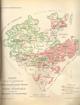 Karte über die im Geschäftsbezirk der Königlichen Generalkommission Münster in der Provinz Westfalen ausgeführten Zusammenlegungen und Gemeinheitsteilungen, 1912