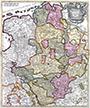 Tabula nova atque exacta Westphaliae, finitimas quopque ditiones Prafecturas et Satrapias eleganter comprehendens / [Eine neue und genaue Karte von Westfalen, welche auch die benachbarten Herrschaftsgebiete, Grafschaften und Fürstentümer korrekt enthält], 1710 / 1730