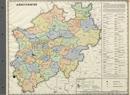 Verwaltungsatlas des Landes Nordrhein-Westfalen, [Karte 1]: Arbeitsämter, [1951]