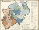 Verwaltungsatlas des Landes Nordrhein-Westfalen, [Karte 2]: Arbeitsgerichte, [1951]