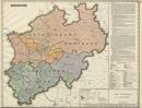 Verwaltungsatlas des Landes Nordrhein-Westfalen, [Karte 3]: Bergämter, [1953]
