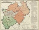 Verwaltungsatlas des Landes Nordrhein-Westfalen, [Karte 10]: Landesplanungsbehörde und Landesplanungsgemeinschaften, [1953]