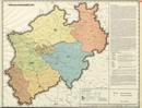 Verwaltungsatlas des Landes Nordrhein-Westfalen, [Karte 15]: Verwaltungsgerichte, [1952]