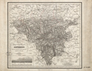 Karte vom Regierungsbezirk Arnsberg [mit Höhenprofil], 1830