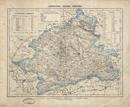Regierungsbezirk Münster [mit Angabe von Flächen, Einwohnern und Höhen], [um 1850]