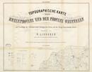 Topographische Karte der Rheinprovinz und der Provinz Westfalen auf Grundlage der v. Dechen